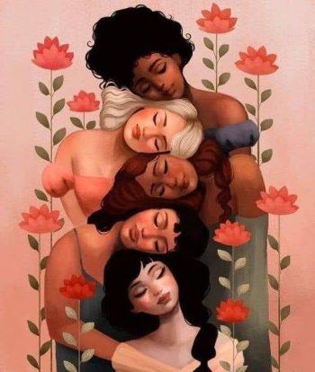 Illustration métaphorique d'un cercle de femmes